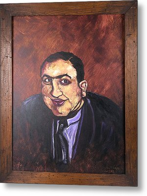Al Capone Portrait Metal Print by Jennifer Noren
