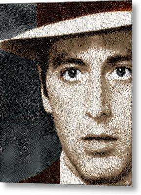 Al Pacino As Michael Corleone Metal Print by Tony Rubino