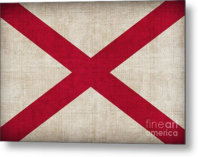 Alabama State Flag Metal Print by Pixel Chimp