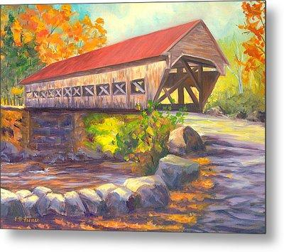 Albany Covered Bridge #49 Metal Print by Elaine Farmer