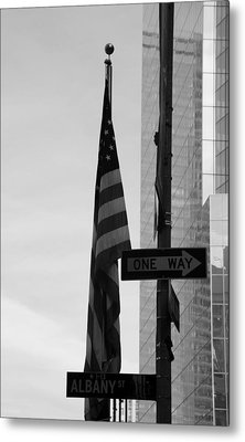 Albany Street In Black And White Metal Print by Rob Hans