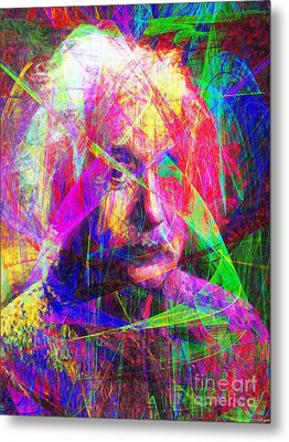 Albert Einstein 20130615 Metal Print by Wingsdomain Art and Photography