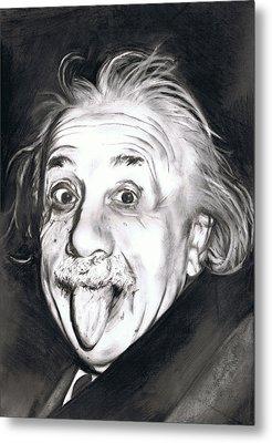 Albert Einstein Metal Print by Shane Cunningham