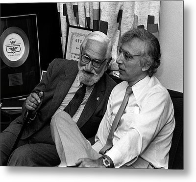 Albert Sabin And Robert Gallo Metal Print by National Cancer Institute