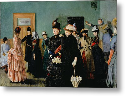 Albertine At The Police Doctors Waiting Room, 1886-87 Metal Print by Christian Krohg