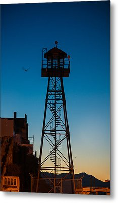Alcatraz Guard Tower Metal Print by Steve Gadomski