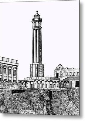 Alcatraz Island Lighthouse Metal Print by Frederic Kohli
