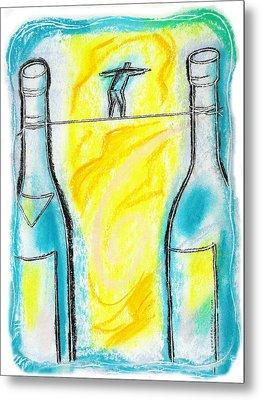 Alcoholism Metal Print by Leon Zernitsky