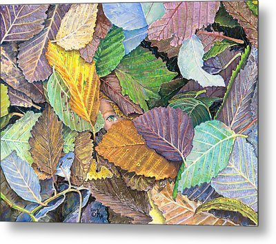 Alder Leaves And Faerie Metal Print by Nick Payne