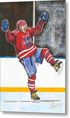 Alexander Ovechkin 2015 Winter Classic Metal Print by Dave Olsen