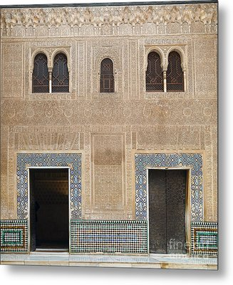 Alhambra Court Granada Metal Print by Rudi Prott