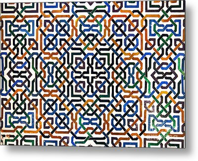 Alhambra Tile Detail Metal Print by Jane Rix