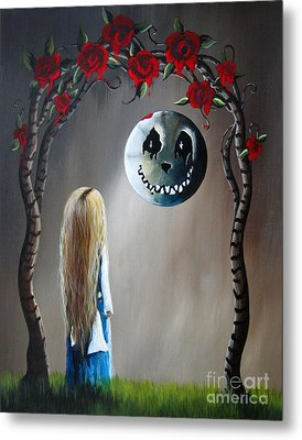 Alice In Wonderland Original Artwork - Alice And The Beautiful Nightmare Metal Print by Shawna Erback