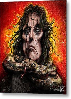 Alice Cooper Metal Print by Andre Koekemoer