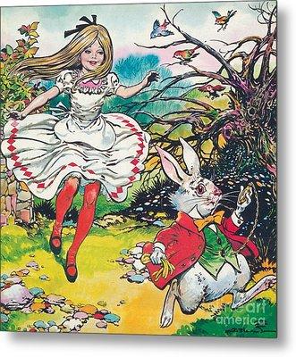 Alice In Wonderland Metal Print by Jesus Blasco