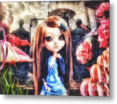 Alice In Wonderland Metal Print by Mo T