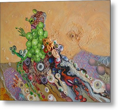 Alien Dog Pile Metal Print by Douglas Fromm