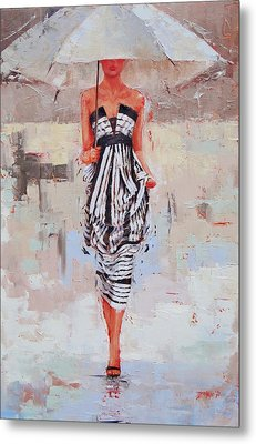All Dressed Up Metal Print by Laura Lee Zanghetti