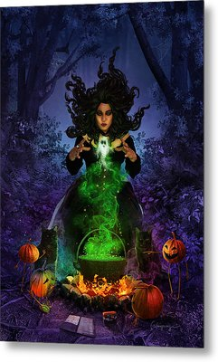 All Hallows Eve Metal Print by Cassiopeia Art