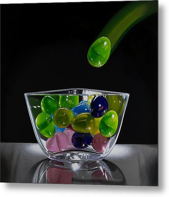 All My Eggs In One Basket Metal Print by Tony Chimento