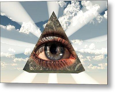 All Seeing Eye Metal Print by Christian Art