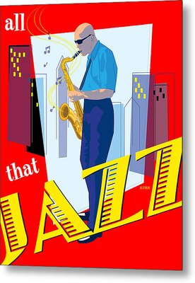 All That Jazz Metal Print by Timothy Ramos
