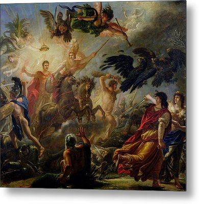 Allegory Of The Battle Of Austerlitz, 2nd December 1805 Oil On Canvas Metal Print by Antoine Francois Callet