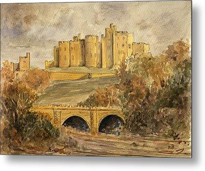 Alnwick Castle Metal Print by Juan  Bosco