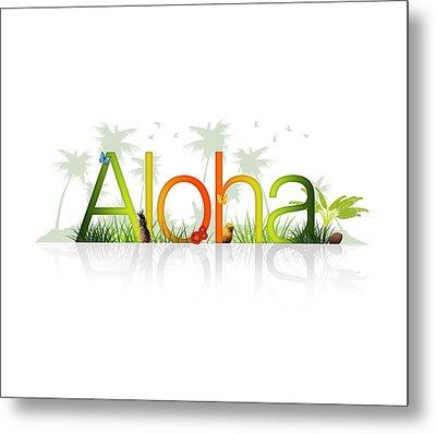 Aloha - Hawaii Metal Print by Aged Pixel