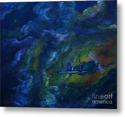 Alone In The Clouds Metal Print by William Bezik