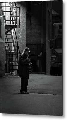 Alone In The Streets Metal Print by Karol Livote