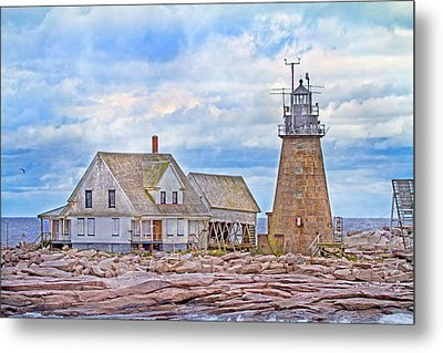Alone On The Rocks Metal Print by Betsy Knapp