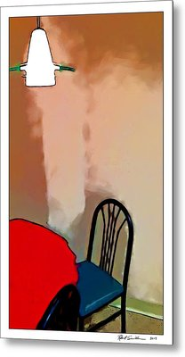 Alone Table Light Metal Print by Robert Smith