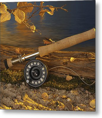 Along The Stream Metal Print by Jerry McElroy