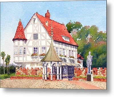Alt Karlsbad California Metal Print by Mary Helmreich