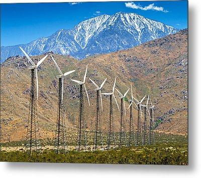 Alternative Power Wind Turbines Metal Print by Susan Schmitz