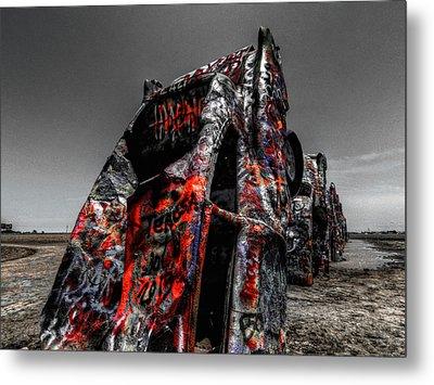 Amarillo - Cadillac Ranch 005 Metal Print by Lance Vaughn