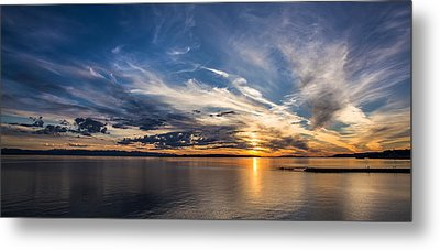Amazing Sky At Sunset Metal Print by Pierre Leclerc Photography