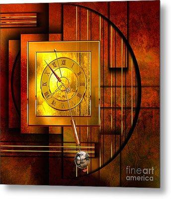 Amber Clock Metal Print by Franziskus Pfleghart