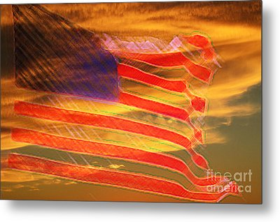 America Distress Metal Print by Beverly Guilliams