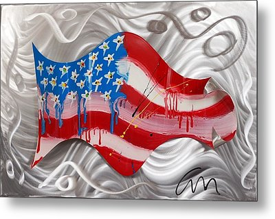 America Wave - Edition 3 Metal Print by Mac Worthington