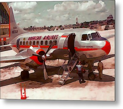 American Airlines Metal Print by Cathy Anderson