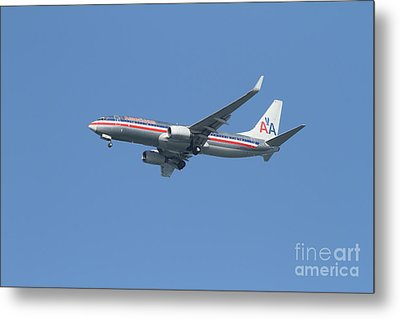 American Airlines Jet 7d21917 Metal Print by Wingsdomain Art and Photography