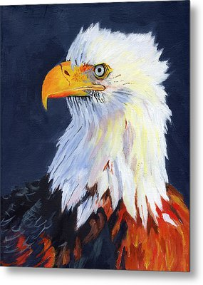 American Bald Eagle Metal Print by Mike Lester