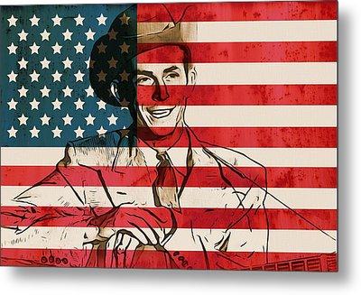 American Country Singer Hank Williams Metal Print by Dan Sproul