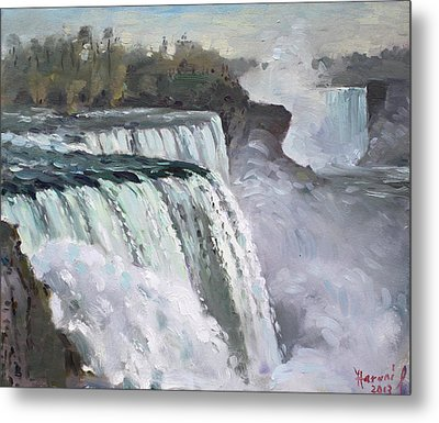 American Falls Niagara Metal Print by Ylli Haruni