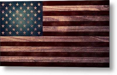 American Flag I Metal Print by April Moen