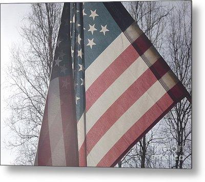 American Flag Metal Print by Jennifer Kimberly