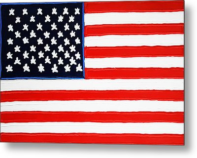 American Flag Metal Print by Matthew Brzostoski