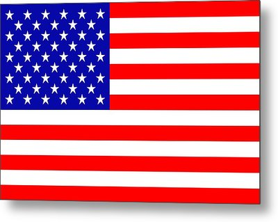 American Flag Metal Print by Toppart Sweden